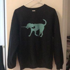 Field hockey dog black/teal sweatshirt